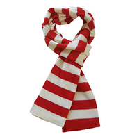 Wholesale Custom Winter Scarf Womens Soft Knit Striped Scarf 100% Acrylic Winter Knitted Scarf