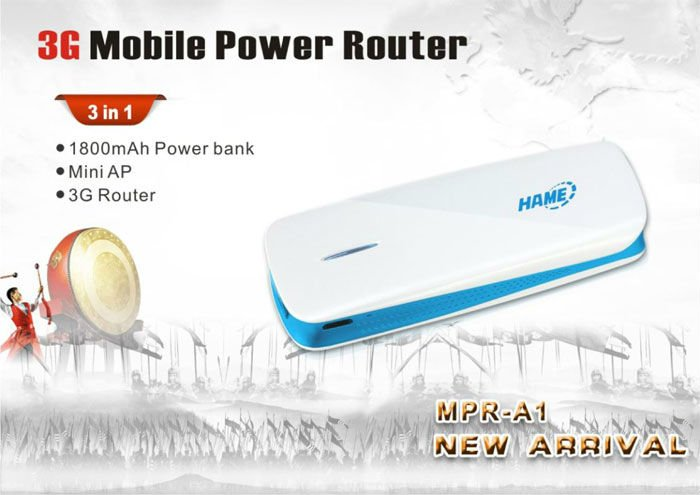 Hame A1 - 3G Mobile Power Router MPR-A1 English version is available