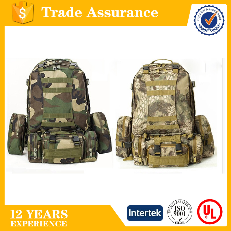 Outdoor camo pattern Military backpacks, Men's travel camouflage backpack, casual waterproof Trekking Rucksacks