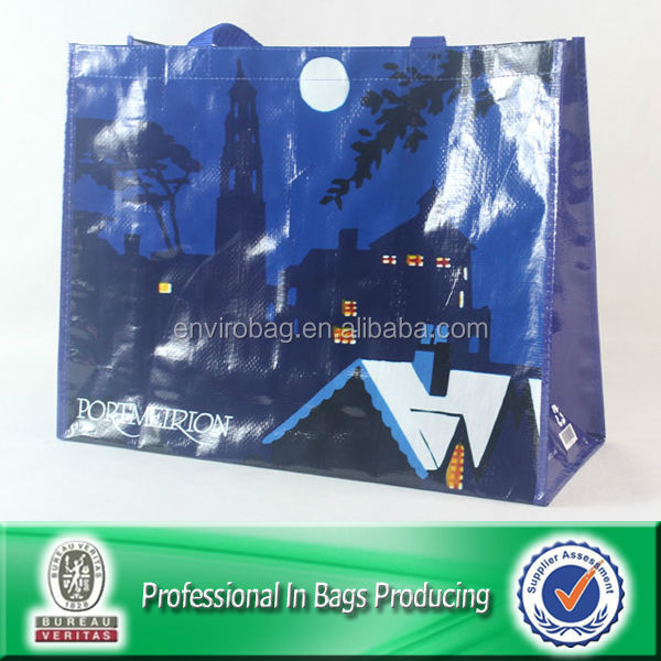 Lead-free Full Color Printing PP Woven Tote Bag