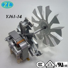 220V 50Hz VDE/UL/CE certified Electric AC motor YJ61-14 C.L.H with cooling fan for Oven turbo fan