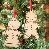 Xmas Tree Decoration Wooden Snowman Ornament