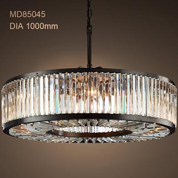 Round Chandelier Lighting Crystal Lamp