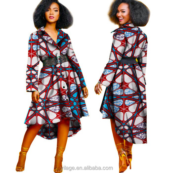 8dedcaff8b Good Quality Traditional African Dress Long Sleeve African Print Hi Low Shirt  Dress