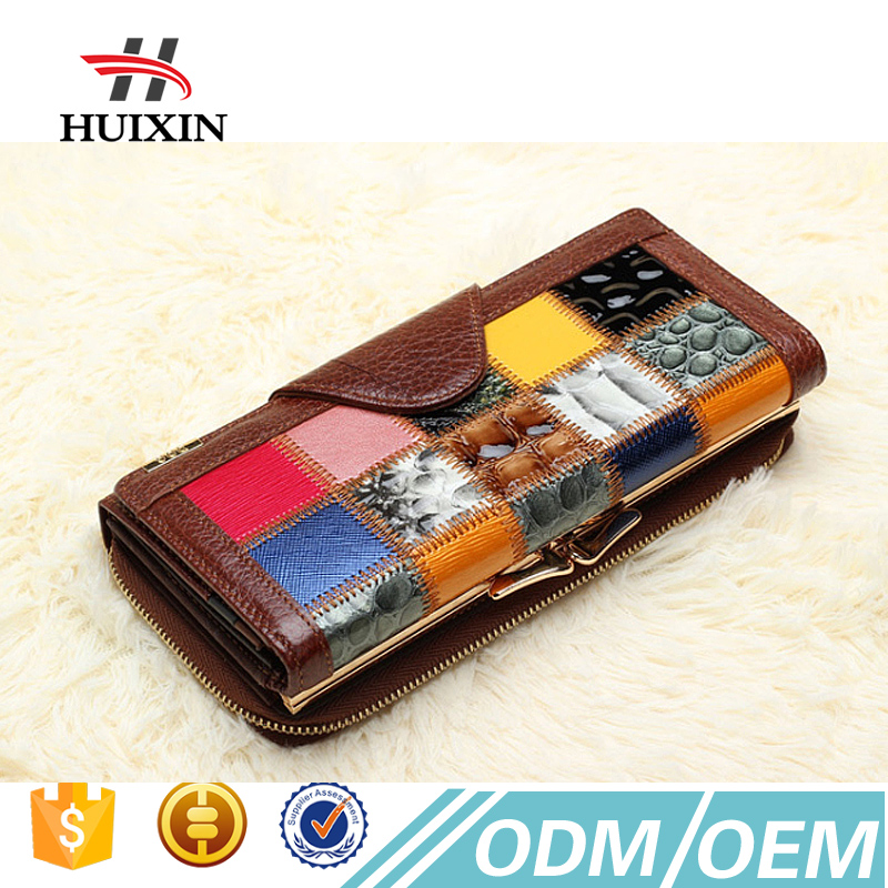 Genuine leather wallet women fashion wallet