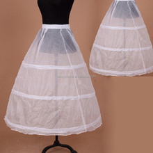2014 hot sale bulk three hoops decent gown dress white crinoline petticoats