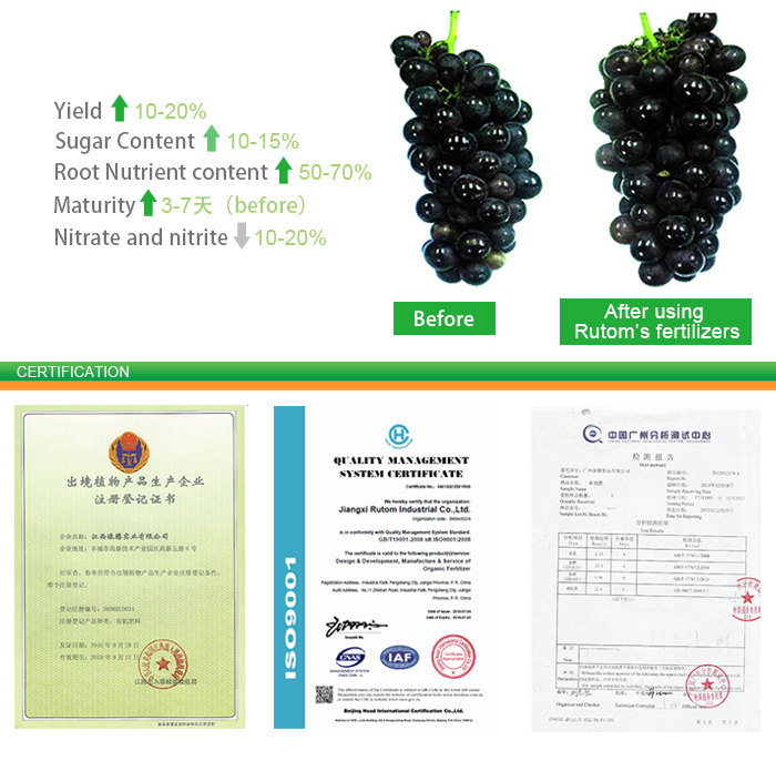 70-75% humic acid content of super potassium humate for fertilizer