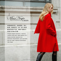 Double-face Cashmere Reversible Hand Knitted Coat Models Wool Coats For Woman