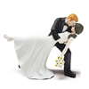 A Romantic Dip Dancing Bride and Groom Couple Figurine for Cakes