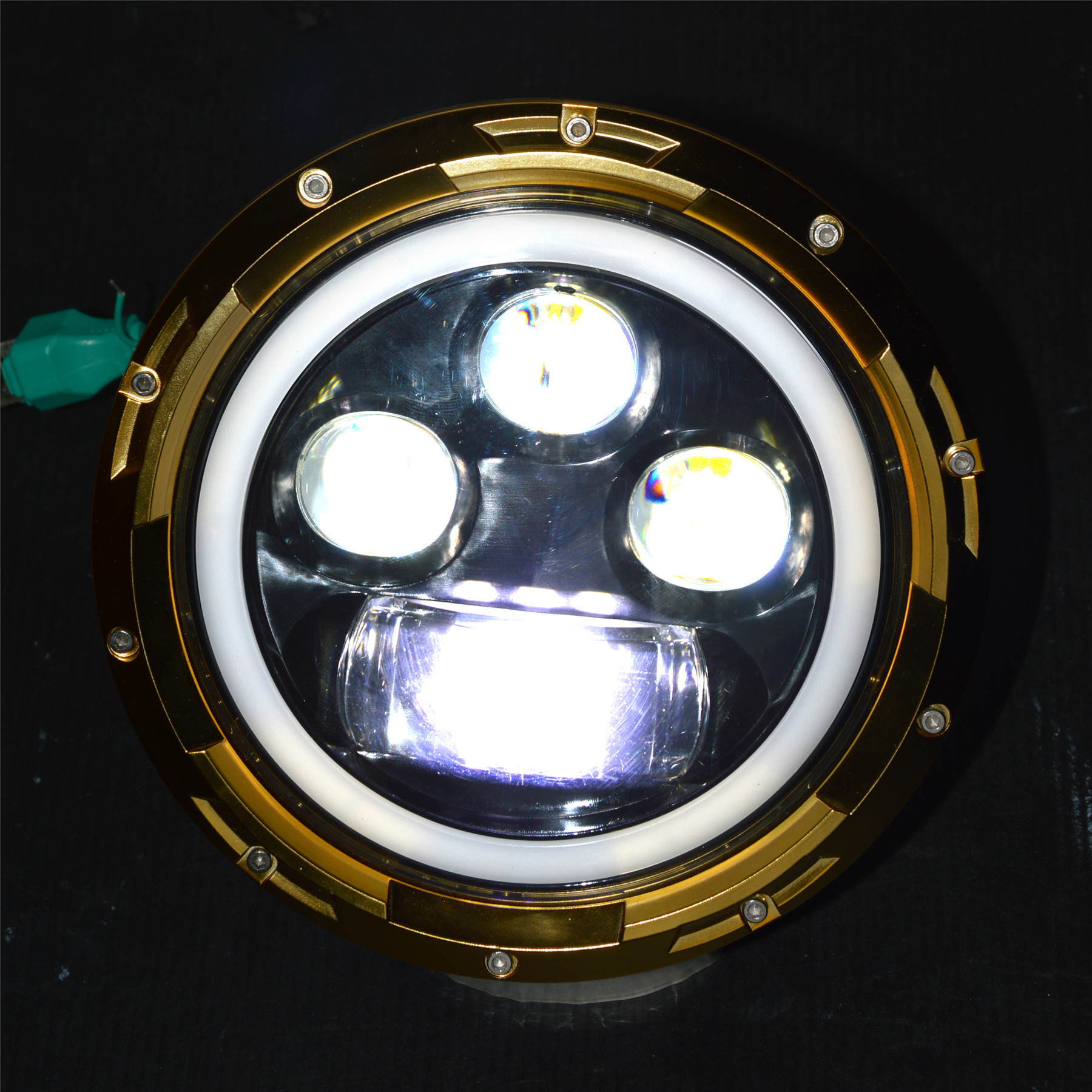 MC-7060 7 inch 60W High/Low Halo Ring LED Head Light