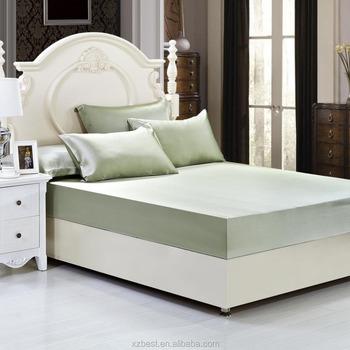 Customized Bed Sheet Set Silk Fitted Sheet,Queen Size Silk Sheet