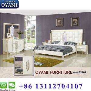 New fashioned real leather White latest design modular bedroom furniture