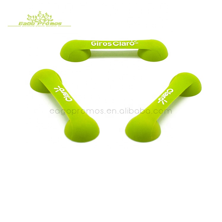 Promotion customized logo silicone suction phone holder rubber stand for cell phone, Any pantone color