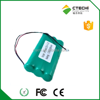 Nimh Aa 7.2v 1500mah Battery Pack For Warning System From Chinese ...