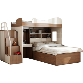 Modern Melamine Mdf Particle Board Bunk Bed For Adult And Children