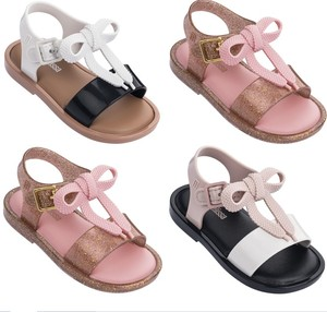 2019 New kids crystal shoes summer sandals PVC bowknot jelly shoes