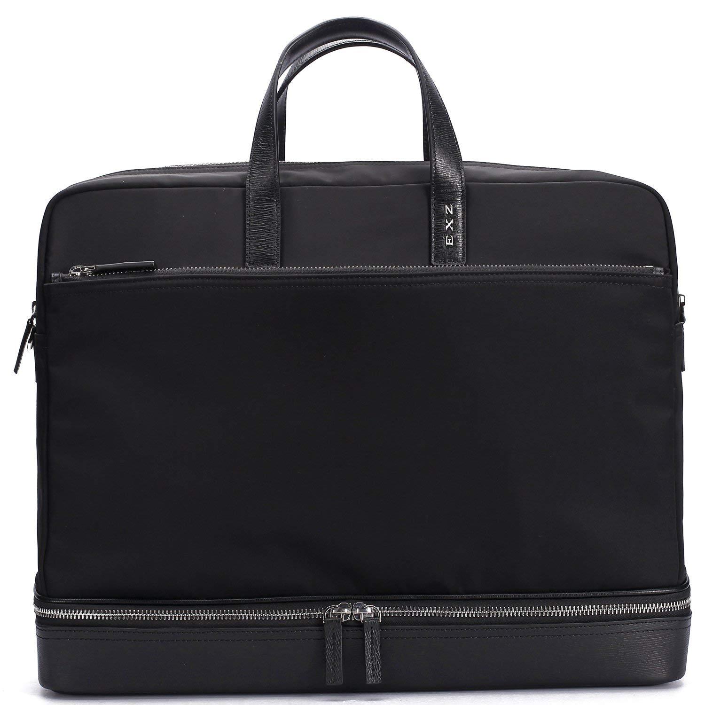 7a718751d8 Get Quotations · EXZ Men Business Briefcase Attache Bag Smooth Nylon 3015