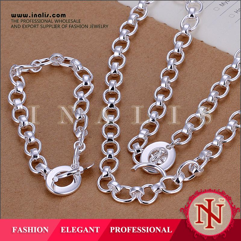 Fashion 925 silver plated elegant jewelry set in latest design S125
