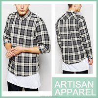 wholesale new design dress shirts 100% cotton custom plaid man shirts