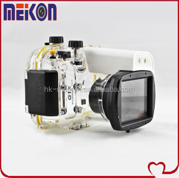 Newest Camera Waterproof Case underwater waterproof housing for Canon G1X ,wholesale underwater housing