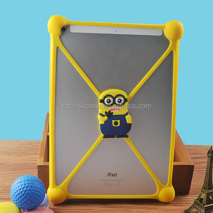 Novelty Silicone rubber 7-10 inch tablet case for kids