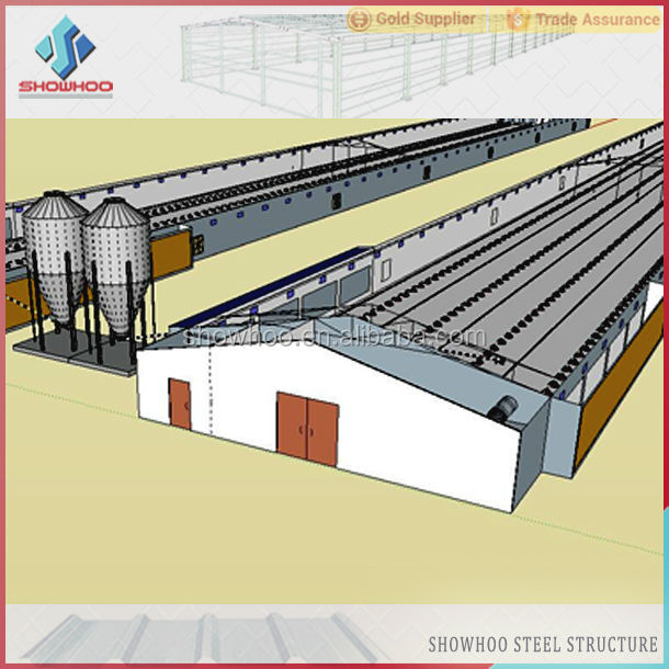 Prefab Light Steel Structure Broiler And Layer Chicken Poultry ...