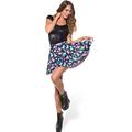 2016 New Fitness Short Ball Tennis skirt Women s gym printed color cartoon dinosaur pleated skirts