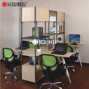 European style solid wood steel office metal furniture with L1200*W900*H560 Office Table furniture
