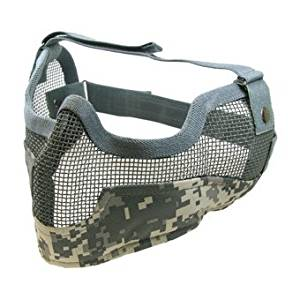 [5421-ACU camo face guard steel survival game for Sabage] Eagle Force lower mesh mask type B (ACU)