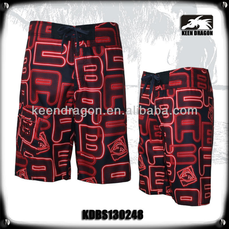 super stretch fabric men's sublimation board shorts of surfer apparel