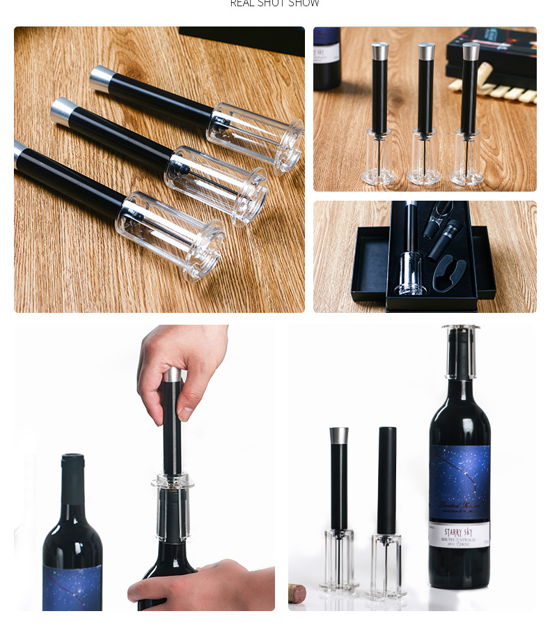 Air Pump Wine Opener Vacuum Cork Remover Air Pressure Pump Cork Opener