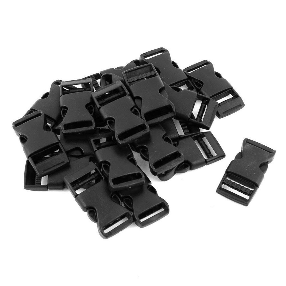 TOOGOO Plastic Lateral Straps Closure Quick Release Buckle 1.6cm 20pcs