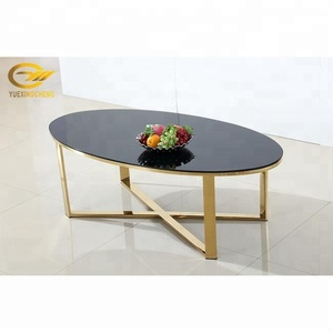 Wholesale Interiors Baxton Studio Dining Buffet Coffee Table with Black Tempered Glass Top
