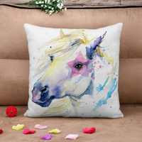 New 2016 Watercolor Horse HD 3d Cushion
