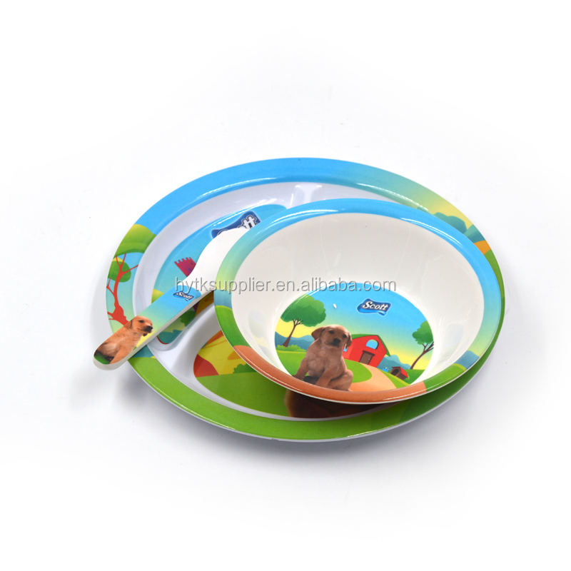 Custom printed baby melamine bowls set with cute design