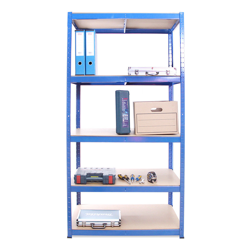 5 tier medium duty metal shelving rack steel warehouse <strong>shelf</strong>