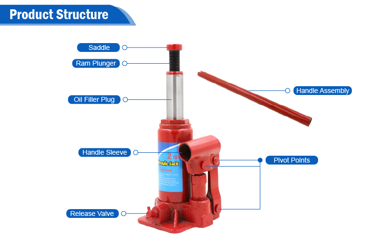 50 TON portable small hydraulic car jack for workshop