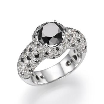 Black Diamond Ring18k Whiteyellow Gold diamond Engagement Ring