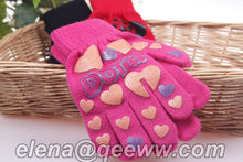 prom glove Kid Acylic Knitted Magic Cotton Gloves cheap China acrylic magic knitted hand gloves