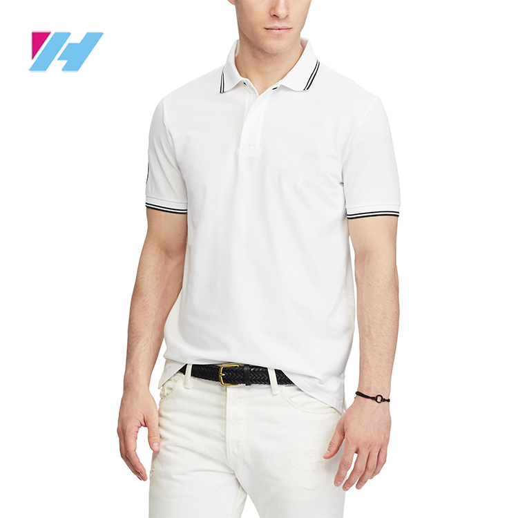 Patchwork Cropped Mesh mannen t-shirt wit polo slim fit t-shirt met polo
