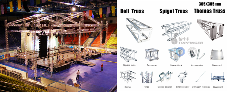 Cheap price mini concert event box circular roof line for Cheap trusses for sale