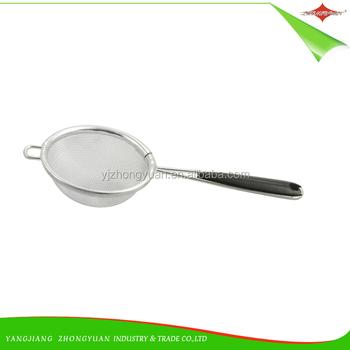 ZY-S1004 de acero inoxidable té colador de malla colador con mango de plástico  para 3e8e7c459672