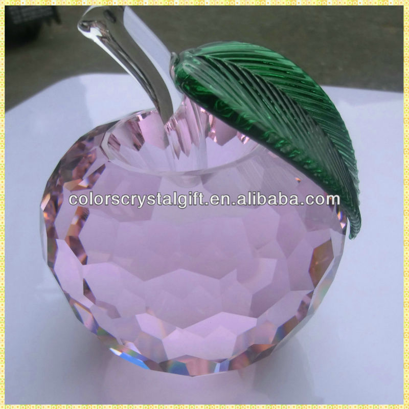 Delicate Colors Crystal Apple Theme Gifts For Valentine's Day Gifts