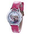 2016 New Cartoon Children Watch Princess Elsa Anna Watches Fashion Kids Cute relogio Leather quartz WristWatch