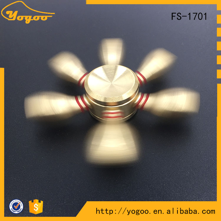 High Quality Relieve Stress Steel Bearing Hexagon Brass Metal Finger Spinner Toy