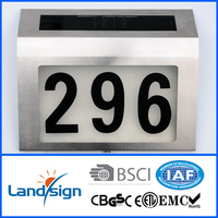 2016 alibaba lowest discount products house street address number light series solar power stainless steel LED doorplate light