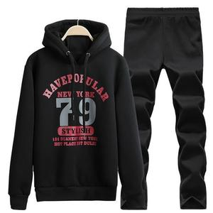 Men Sports Clothing Set, Printed Hoodies And Pants, Track suit