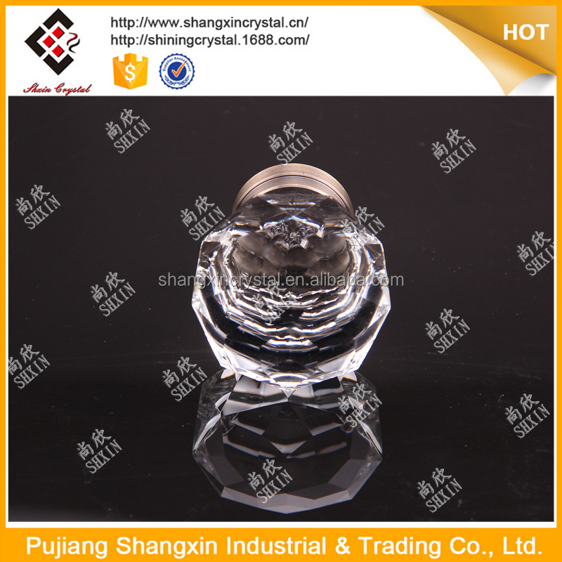 45mm Clear Crystal Zinc Alloy Antique Brass Plated Bronze Cabinet Hardware Knobs