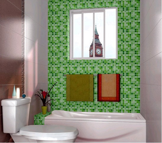 Waterproof Wallpaper For Bathroom Decorativepvc Mosaic