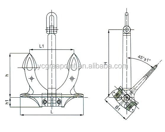 Casting Hall Ship Anchor Price with A B C Type